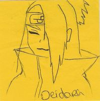 Deidara on a post-it xD by AryaHiwatari