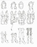 halloween paper doll costume by electricjesuscorpse