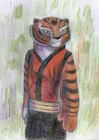 Tigress:color pencils by Suzamuri