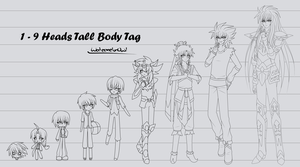 1 to 9 Heads Tall Body Tag by WatermelonOwl