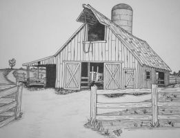 OLD BARN by uncledave
