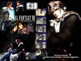 FF VIII Squall with Rinoa by Angelhawk-MCMLXXXI