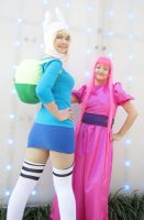 Fionna and Princess Bubblegum by neoangelwink