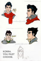 Legend of Korra: Brother Lineup by Guiled-Dragon