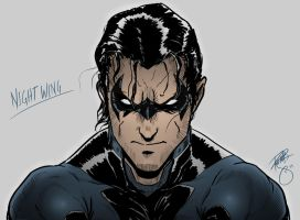 Daily Sketch: Nightwing by TheWizpir