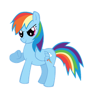 Rainbow Dash- Vectorish by luckygirl88