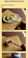 Making Miniature Food by fairchildart