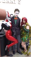 Harley Quinn, The Joker and Poison Ivy by DarkLilly1991