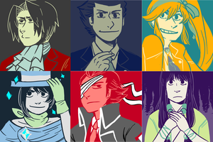 Ace Attorney - colour challenge by kinozie