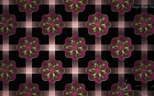 Purple Flower Tile by one-tough-one