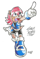 *SONIC OC*:  Sally Acorn [New Design](2) by Armpit-Warrior