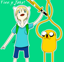 Finn And Jake by Tokikow
