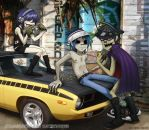 commission - GORILLAZ RULZ by Go-Devil-Dante