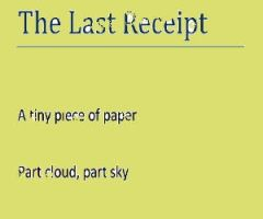 The Last Receipt by alika-n