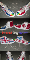 Painted flag shoes by CrystalTheTaco