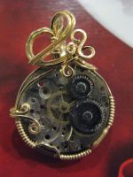 second attempt at steampunk by DPBJewelry
