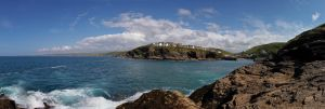 Port Isaac From The Rocks Pano by runique