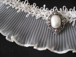 Victorian Ruffle Bridal Choker by mad-hatter-inc
