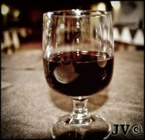 Red Wine Glass by JohnnyVadala