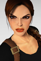 Portrait - Angry Lara by puczkosia