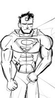 Quick doodle of a grumpy superman on Ipad by Jylm75