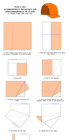 Origami Dirk's Hat Diagrams by OrigamiPhoenix