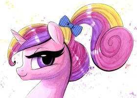 Princess Cadance 3D Watercolor Painting by PrettyPinkP0ny