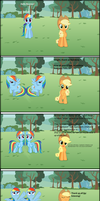 Rainbow Dash and Applejack has a message by TossarN