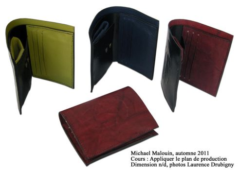 Leather wallet by MikeHellius