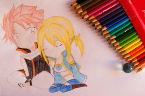 Natsu and Lucy by kalliny