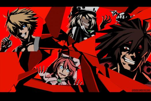 Persona 5 X Guilty Gear Xrd All Out Attack by dudeunderscore