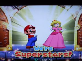 Mario Party 7 -- Mario and Peach by WarioMan3K