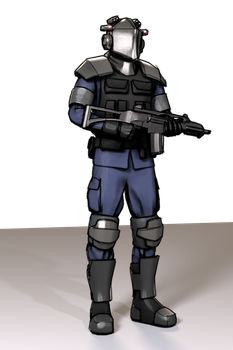 Militarized Police compositor filter experiment by aVersionOfReality