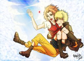 NaruSaku. Jump in the Sky by ManaSaya
