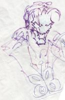 Drawing on a tablecloth from 2012 by Jeppe Roemer by TolkyJr