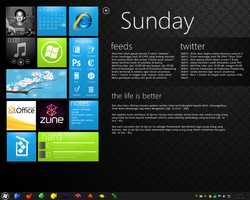 Windows 7 with Phone Ui Style by winaista