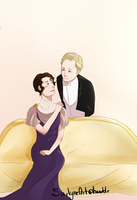DA: Young Robert and Cora by SarlyneART