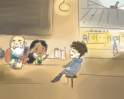 rotg coffeeshop au- have a little coffee by maybelletea