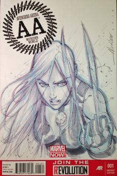 X-23 Sketch Cover by Alvin Lee by hierojux
