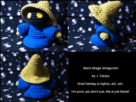 Black Mage Amigurumi by PrincessCordelia