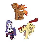 Three Ponies!!! by Silverfang98