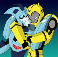 Blurr and Bee by LadySokolov