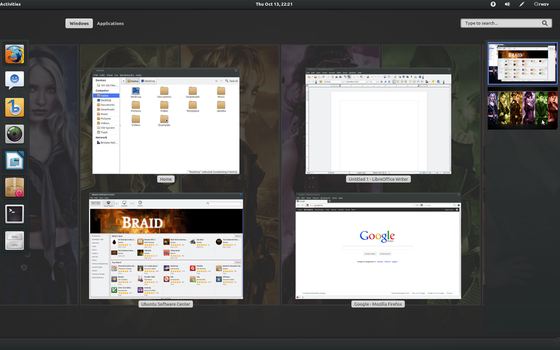 Ubuntu 11.0 Gnome 3 by billgoldbergmania