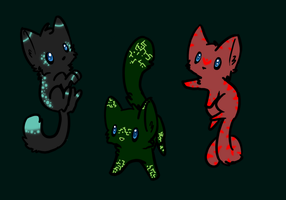 Cat adoptable batch 10 by TotalSilver-Adopts