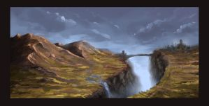 Landscape - speedpaint by Stoupa