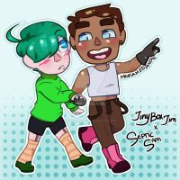 Septic Sam x Tiny Box Tim (Finished!) by MariaMediaHere