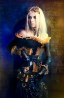 Golden Steampunk by Elena-NeriumOleander