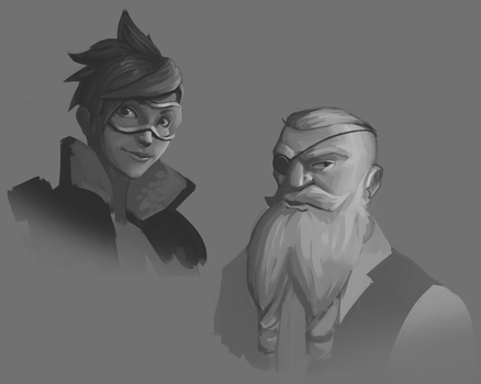 Overwatch sketches! by F87w