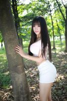 Outdoors busty beauty! (Yao Xia) by DarknessWithinUs