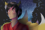 .:OSMT:. Kitsune at the night by Nite3007